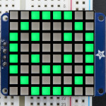 "Small_1.2""_8x8_Bright_Square_Pure_Green_LED_Matrix+Backpack"