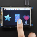 """PiTFT Plus 480x320 3.5"""" TFT+Touchscreen for Raspberry Pi - Pi 2 and Model A+ / B+"""
