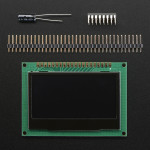 "Monochrome 2.42"" 128x64 OLED Graphic Display Module Kit"