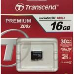 Карта памяти 16Gb MicroSD Transcend Class 10 (TS16GUSDC10)