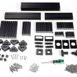 OpenBeam Precut Machinist Kit - Black Aluminum