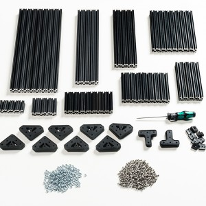OpenBeam Advanced Precut Kit - Black Aluminum
