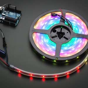 Adafruit NeoPixel Digital RGB LED Weatherproof Strip 30 LED -1m - WHITE