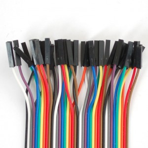 "Premium Female/Female Jumper Wires - 40 x 3"" (75mm)"