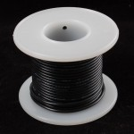 Hook-up wire spool - Black - 25 ft