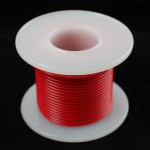 Hook-up wire spool - Red - 25 ft