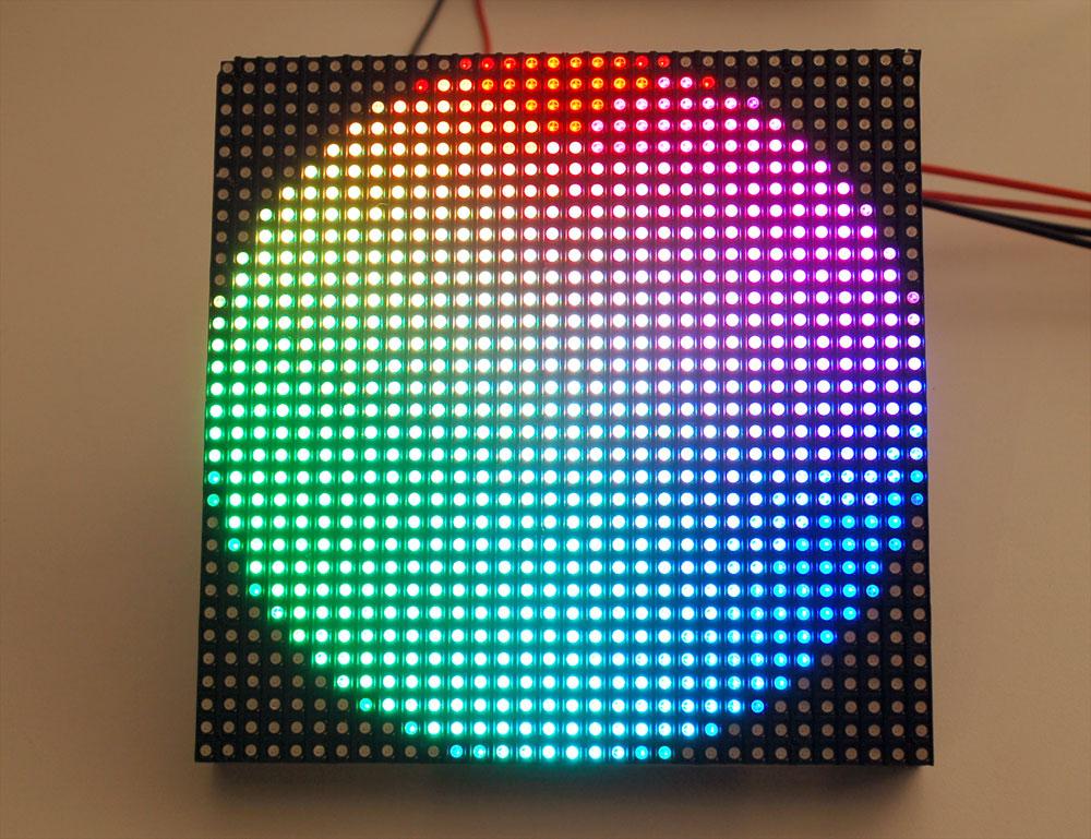 small 32 32 rgb led matrix panel raspberry pi. Black Bedroom Furniture Sets. Home Design Ideas