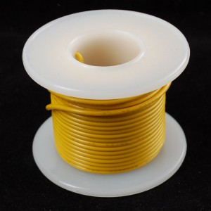Hook-up wire spool - Yellow - 25 ft