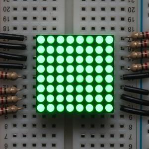 "Miniature 0.8"" 8x8 Pure Green LED Matrix - KWM-20882CPGB"