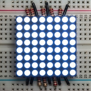 "Small 1.2"" 8x8 Ultra Bright White LED Matrix"