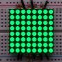 "Small 1.2"" 8x8 Ultra Bright Pure Green LED Matrix - KWM-30881CPGB"