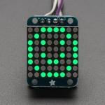 """Adafruit Mini 0.8"""" 8x8 LED Matrix w/I2C Backpack - Pure Green"""