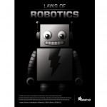 "3 Laws of Robotics"" poster"