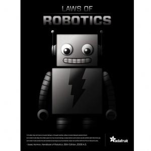 """3 Laws of Robotics"""" poster"""