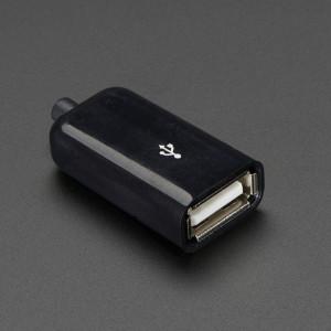 USB_DIY_Slim_Connector_Shell-USB_Type_A_Socket/Female