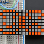 "16x8_1.2""_LED_Matrix+Backpack-Ultra_Bright_Square_Amber_LEDs"