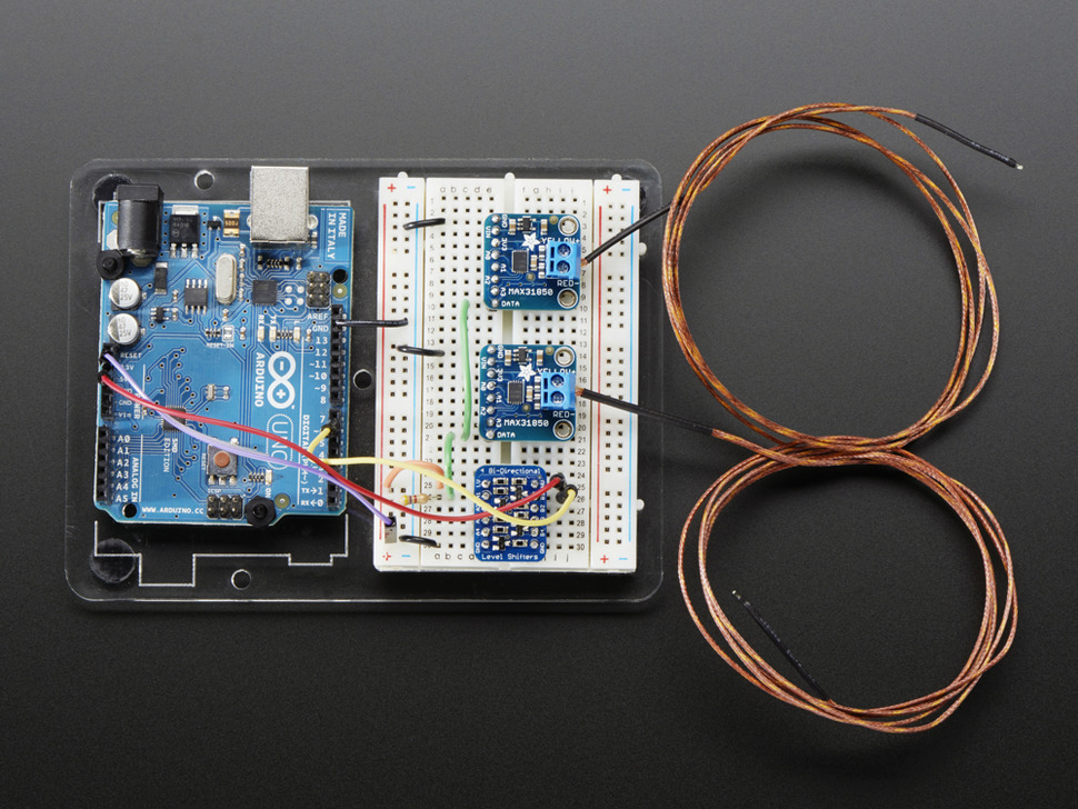 Thermocouple Amplifier With 1 Wire Breakout Board