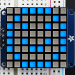 "Small_1.2""_8x8_Ultra_Bright_Square_Blue_LED_Matrix+Backpack"