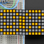 "16x8 1.2""_LED_Matrix+Backpack-Ultra_Bright_Square_Yellow_LEDs"