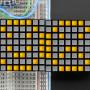 "16x8 1.2""_LED_Matrix+Backpack-Ultra_Bright_Square_Yellow_LEDs"