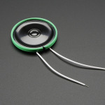 Thin Plastic Speaker w/Wires - 8 ohm 0.25W