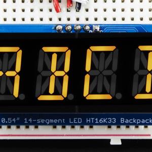 "Quad_Alphanumeric_Display-Yellow_0.54""_Digits_w/I2C_Backpack"