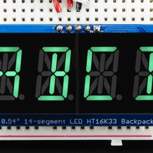 "Quad_Alphanumeric_Display-Pure_Green_0.54""_Digits_w/Backpack"