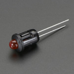5mm Plastic Bevel LED Holder - Pack of 5