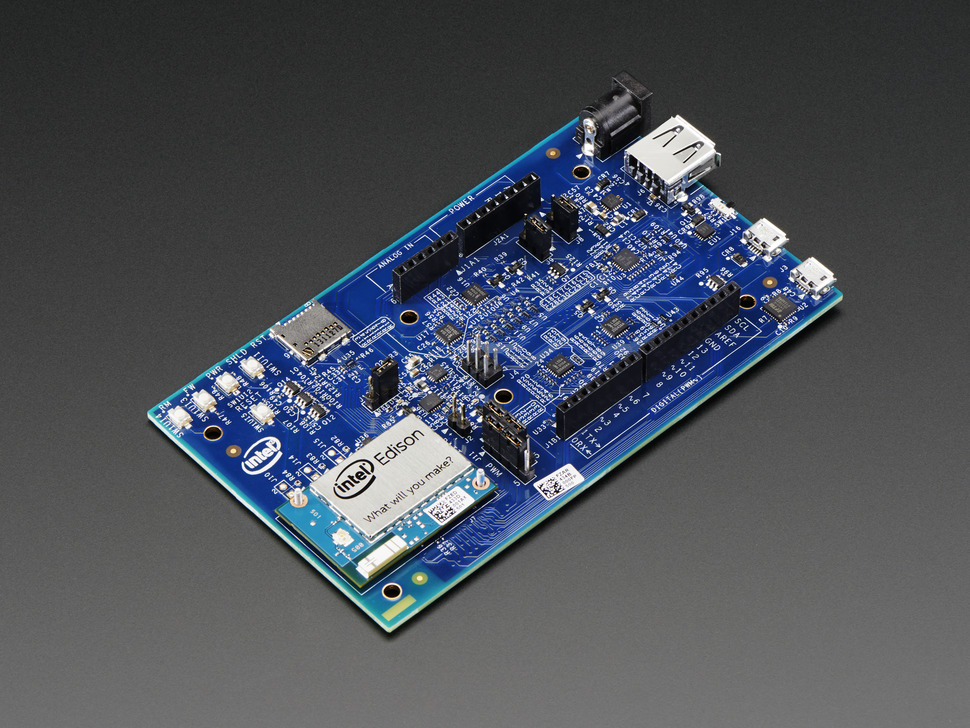 Blink a LED on the Intel Edison dev board using your