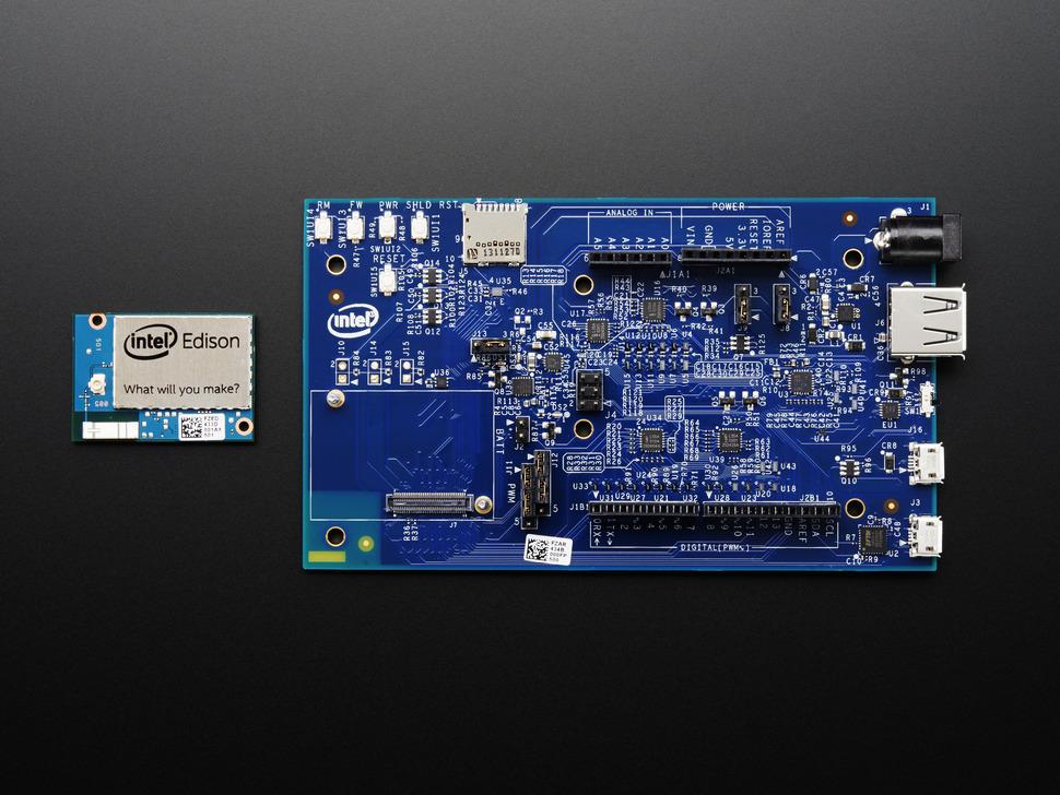 Intel edison kit w arduino breakout board raspberry pi