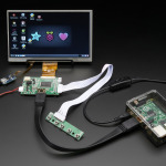 "HDMI 4 Pi: 7"" Display w/Touchscreen 1024x600 w/ Mini Driver"