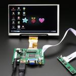 "HDMI 4 Pi: 7"" Display no Touchscreen 1024x600- HDMI/VGA/NTSC/PAL"