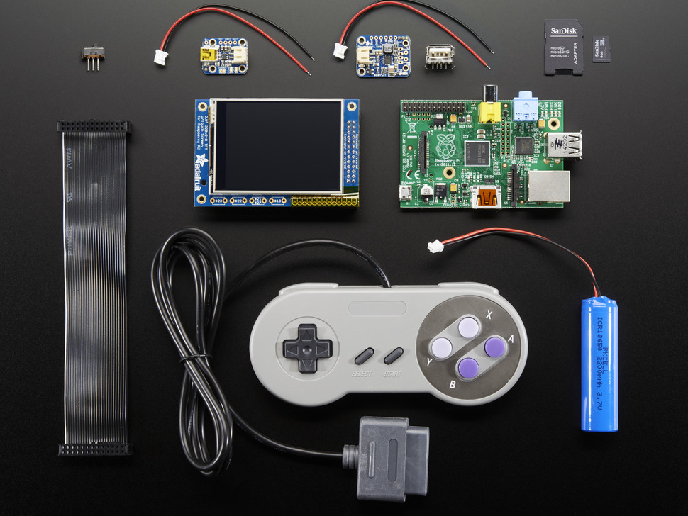 Pigrrl pack build your own pi game emulator case not