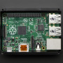 Raspberry Pi B+ / Pi 2 - Black Case with Smokey Top - by anidée