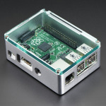 Raspberry Pi B+ / Pi 2 - Silver Case with Crystal Top by anidée