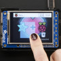 "PiTFT Plus 320x240 2.8"" TFT + Resistive Touchscreen - Pi 2 and Model A+ / B+"