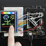 "Adafruit 2.4"" TFT LCD with Touchscreen Breakout w/MicroSD Socket - ILI9341"