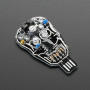 Solar Powered SKULL Blinky LED Pendant Kit from Lumen Electronic