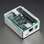 Anidées BeagleBoneBlack Case - Silver Aluminum with Crystal Top