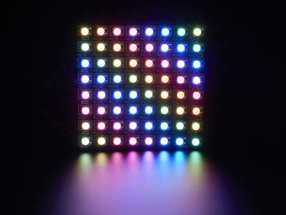 Flexible 8 215 8 Neopixel Rgb Led Matrix Raspberry Pi в