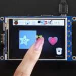 "PiTFT Plus 320x240 3.2"" TFT + Resistive Touchscreen - Pi 2 and Model A+ / B+"