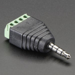 "3.5mm (1/8"") 4-Pole (TRRS) Audio Plug Terminal Block"