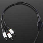 A/V and RCA (Composite Video, Audio) Cable for Raspberry Pi