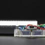 """16x8 1.2"""" LED Matrix + Backpack - Ultra Bright Round Blue LEDs"""