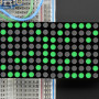 "16x8 1.2"" LED Matrix + Backpack - Ultra Bright Round Green LEDs"
