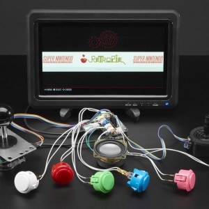 Adafruit Arcade Bonnet for Raspberry Pi with JST Connectors - Mini Kit