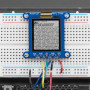 "Adafruit SHARP Memory Display Breakout - 1.3"" 168x144 Monochrome"