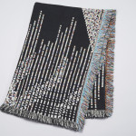 Glitch Textiles Dark Code Throw