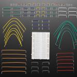Half Size Breadboard + 78 Piece 22AWG Jumper Wire Bundle