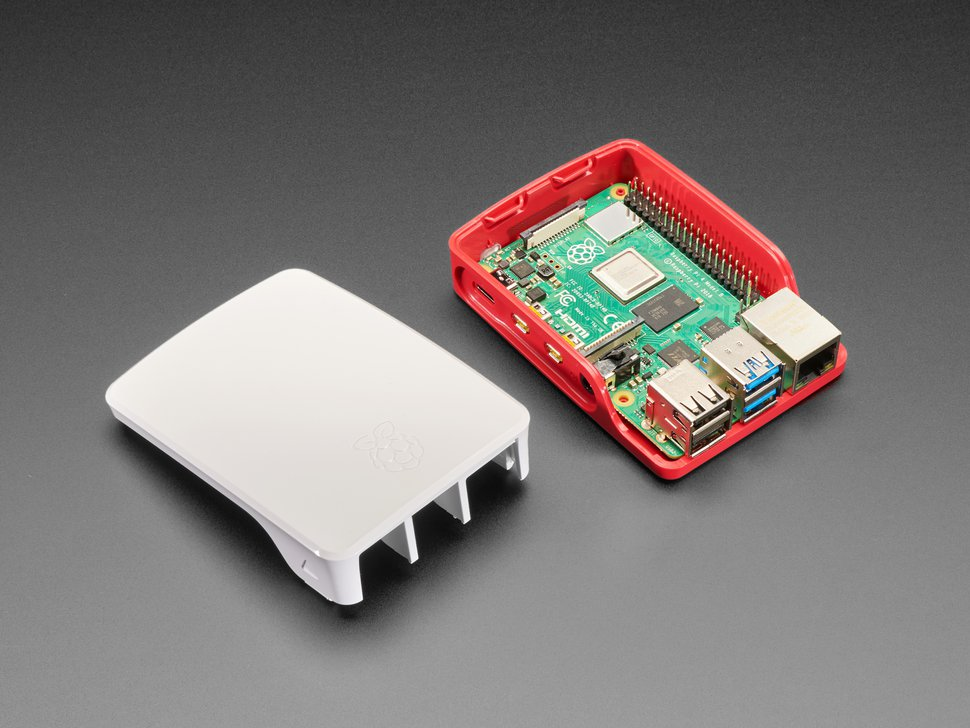 Official Raspberry Pi Foundation Raspberry Pi 4 Case — Red White